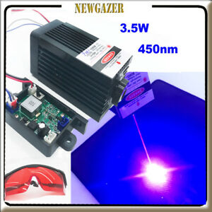 Focusable 450nm 3 5blue Laser Module Ttl Carving burning engraning Gift Goggles