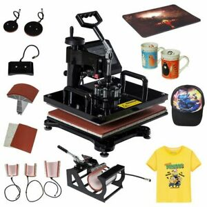 8 In 1 Heat Press Machine Multifunction Industrial Quality Digital Transfer Subl