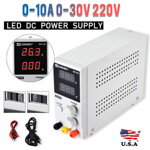 0 30v Adjustable Dc Power Supply Precision Variable Dual Digital Lab Test
