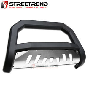 For 98 11 Ford Ranger Matte Black Avt Edge Bull Bar Brush Push Bumper Guard Skid