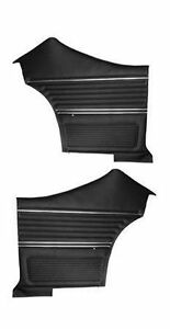 1969 Chevelle Coupe Door Panels Rear Set In Black J 6560 In Stock
