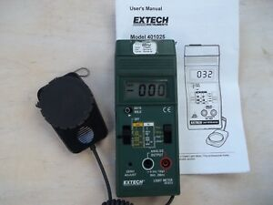 Extech Light Meter 401025 Foot Candle lux