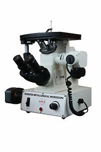 Inverted Metallurgical Metallograph Microscope W 3mp Usb Camera