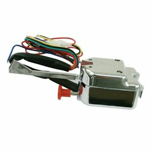 Universal Chrome Turn Signal Switch With Emergency Flasher