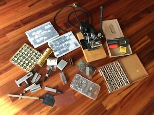 Kingsley Hot Stamp Machine M 50 With A Lot Of Extras