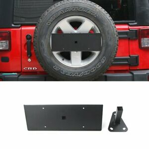 Metal Rear Spare Tire License Plate Bracket Holder For Jeep Wrangler 2007 2017