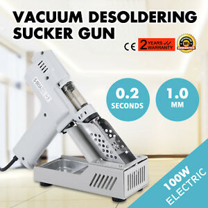 Electric Vacuum Desoldering Pump Sucker Gun Iron Metal 100w Power 2 c Accuracy