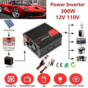 Peak 600w Auto Car Power Inverter Dc 12v ac 110v Modified Sine Wave Converter