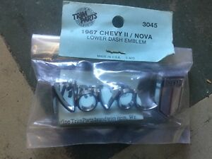 1967 Chevy Nova Lower Dash Emblem