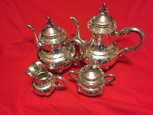 Heidelberg Sterling Silver 925 4 Piece Tea Set 4 Piece Tea And Coffee Service