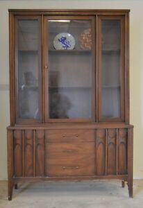 Vintage Mid Century Kent Coffey Hutch China Cabinet