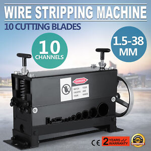 Manual 38mm Wire Stripping Machine Copper Cable Peeling Stripper W 10 Channels