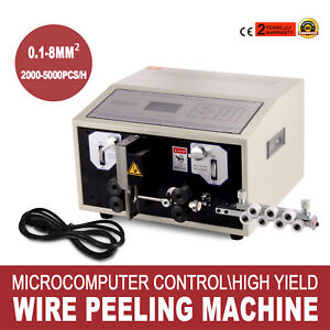 Computer Wire Peeling Stripping Cutting Machine Automatic 300w 10000mm Hot