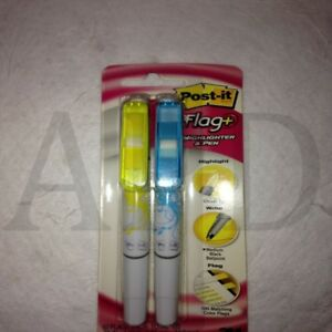 24 each 3m 23776 691 hlp2 Post it Flag Pen And Highlighter