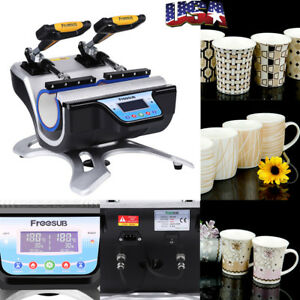 Automatic Double Station Mug Heat Press St 210 Sublimation Transfer Printing Us