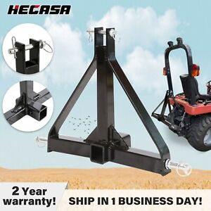 3 Point 2 Receiver Trailer Hitch Category 1 Tractor Tow Hitch Draw Bar Adapter