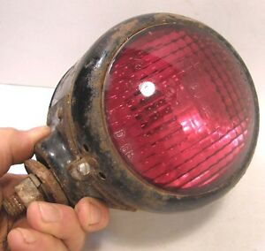 Vintage Guide D 68 Red Amber Front Fender Double Face Turn Signal Lamp Truck