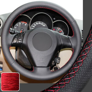Hand Sew Steering Wheel Cover Stitch Wrap For 04 09 Mazda 3 M3 M6 M5 Mazda Speed