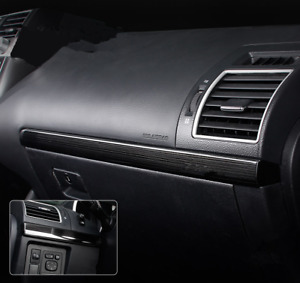 Black Titanium Console Stripe Decorative Trim For Toyota Prado Fj150 2010 2018