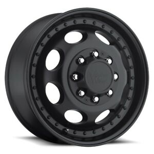 19 5x6 75 Vision 181 Hauler Dually 8x165 1 Et102 Matte Black Rims set Of 4