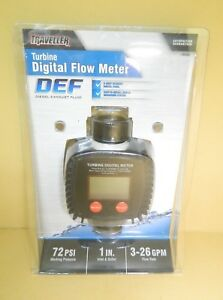 Traveller Turbine Def Digital Flow Meter 5 Digit Readout Digital Panel 1289390