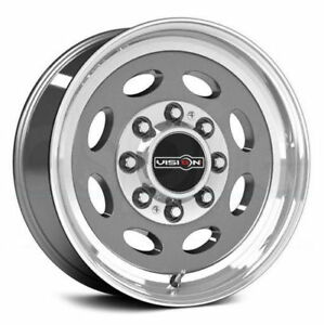 19 5x7 5 Vision 81 Hauler Single 8x165 1 Et0 Gun Metal Rims New Set 4