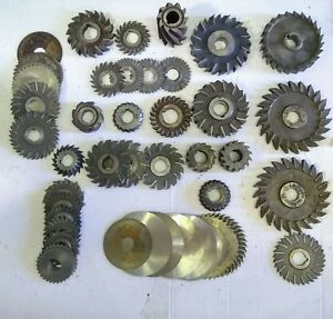 Misc Lot Of 46 Pieces Arbor Mount Milling Cutters Used
