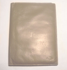 Butter Soft Taupe Leather Van Cleef Arpels Notepad Credit Card Organizer