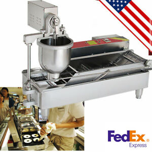 Commercial Electric Automatic Doughnut Donut Machine Maker Fryer 3 Size Outlets