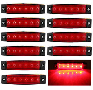 10x 12v 6led Side Marker Indicators Light Lamp Truck Trailer Lorry Rv Clearence