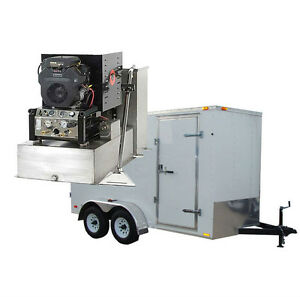 New Panther 19hp Carpet Tile Air Duct Cleaning Equipment Machine Trailer Pkg