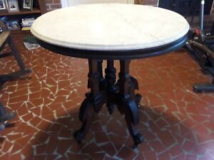 Antique Rosewood Marble Top Table C 1870