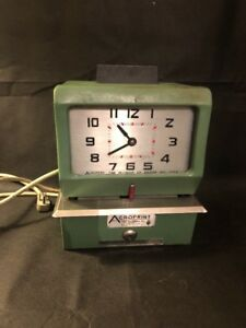 Acroprint 150nr4 Time Clock Automatic Print Punch Clock Recorder Heavy Duty