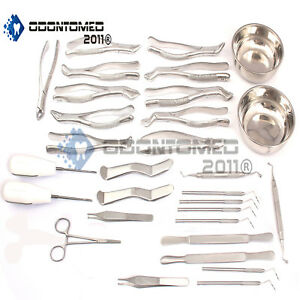 Dental Oral Surgery Set Kit Surgical Dental Instruments Forceps Elevator