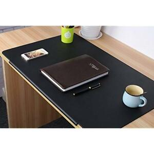 Lohome Desk Laptop Accessories Pads Artificial Leather Mat With Fixation Lip