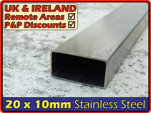 Stainless Steel Rectangular Tube 20 X 10 Mm Box Section Iron profile tubing