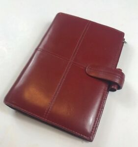 Vintage Filofax Cross Leather 6 ring Personal Organizer