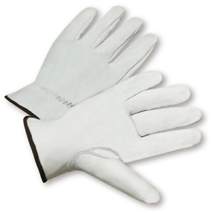 Large Standard Grain Goatskin Leather Driver Gloves Dozen