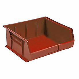 Plastic Stacking Bin 11 X 10 7 8 X 5 Red Lot Of 6