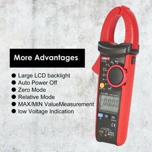 Uni t Digital Clamp Meter Multimeter Volt Amp Ohm Ncv Tester 600a True Rms Hh