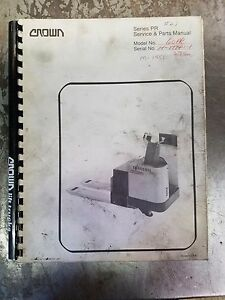 Crown Forklift Series Pr Service And Parts Manual
