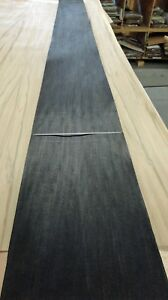 Poplar Dyed Black Wood Veneer 10 X 117 Raw No Backing a Grade 1 42 Thick