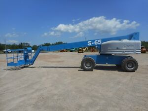 2000 Genie S65 Telescopic Boom Lift With Only 4064 Hours