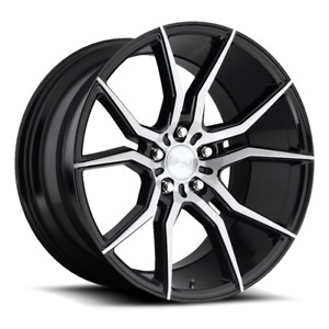 Package 19 Staggered Niche Ascari M166 Gloss Black Brushed Wheels And Tires