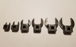 Snap On 3 8 Dr Crows Foot Wrench Set 7 16 9 16 13 16 1 1 1 8 1 1 4