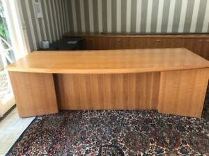 Custom Made Office Furniture Return And Credenza