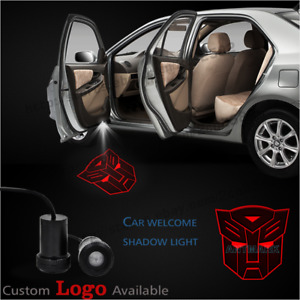 2x Transformers Autobot Car Door Welcome Led Laser Projector Ghost Shadow Lights