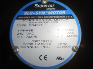 Slo Syn Stepper Motor Ss452t Superior Electric Lot 9949