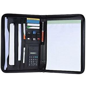 A4 Multifunctional Professional Business Zippered Portfolio Folder Case