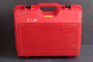 Leica Gps System 1200 Red Hard Case Only